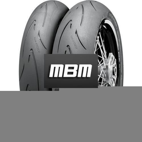 CONTINENTAL ATTACK SM EVO  TL Front  120/70 R17 58 Moto.HB_VR Fro TL Front  H